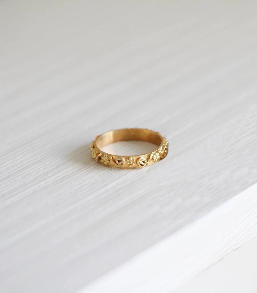 Gold Filigree Wedding Ring Band Wedding ring bands, Gold