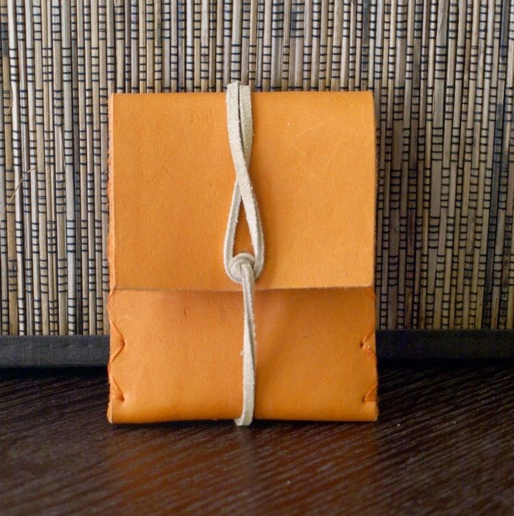 Orange leather business card holder looks like a mini envelope orange leather business card holder looks like a mini envelope reheart Image collections