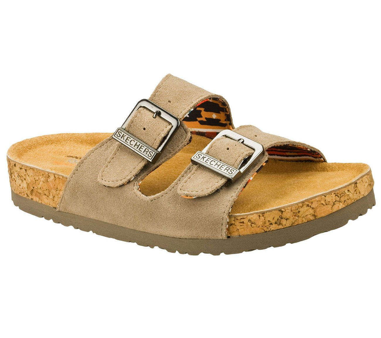 d72bea52fa69 Delicious classic style and amazing comfort combine in the SKECHERS Relaxed  Fit®  Granola - Trail Mix sandal. Soft suede upper in a two strap casual  comfort ...