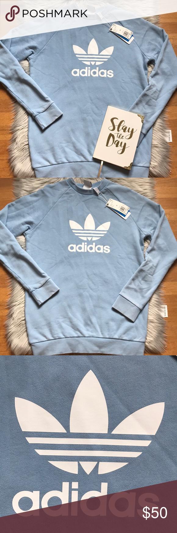 Nwt Adidas Light Blue Sweatshirt Light Blue Sweatshirt Adidas Sweatshirt Blue Adidas [ 1740 x 580 Pixel ]