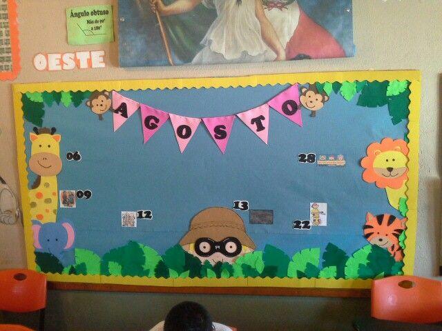 Peri dico mural selva pinterest bulletin board for Diario mural escolar