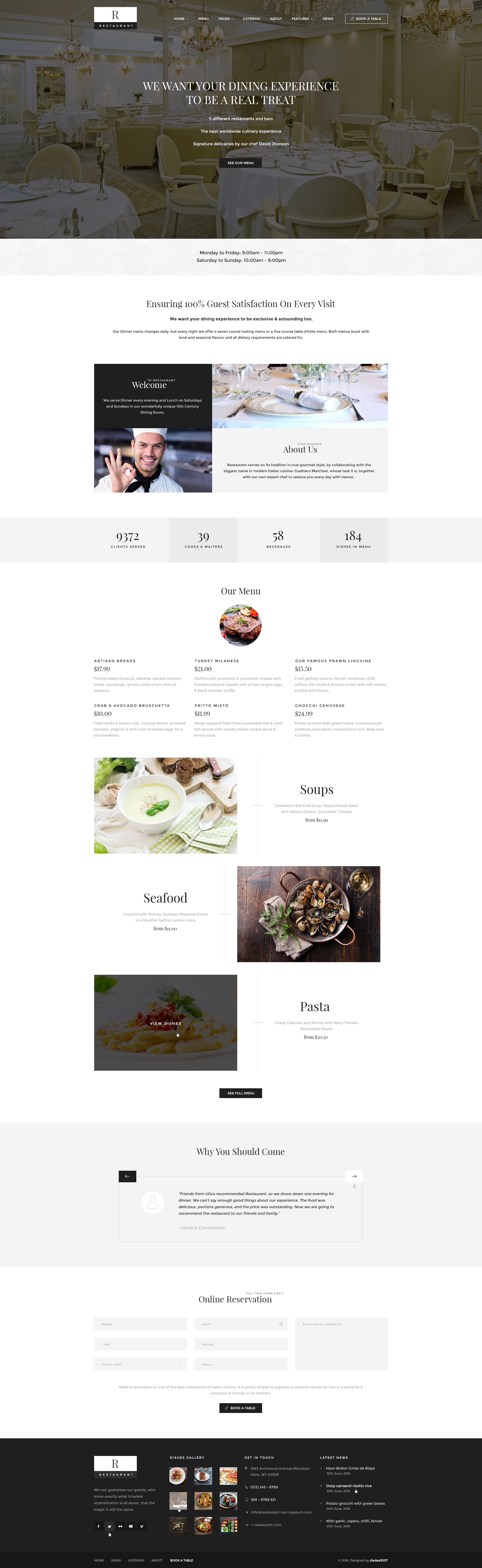 R Restaurant - Luxury, Barbecue, Cafe, Pastry, Winery & Sushi PSD ...