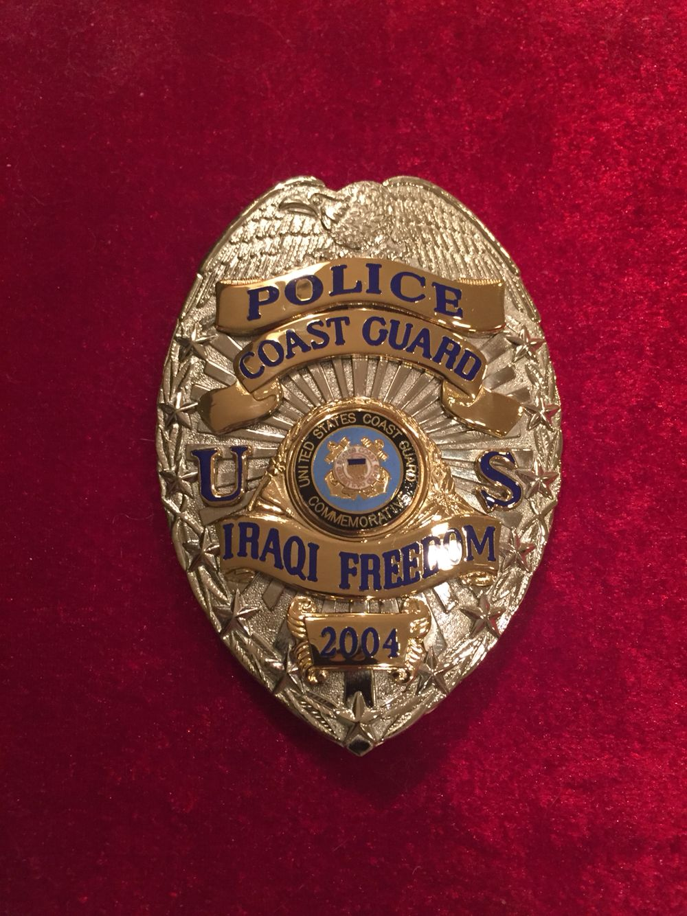 United States Coast Guard Police Officer Badge Iraq