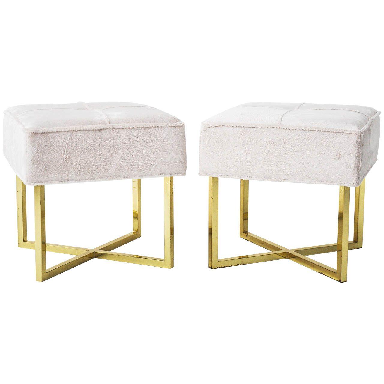 Brass X-Base Stools | Modern stools, Stools and Modern