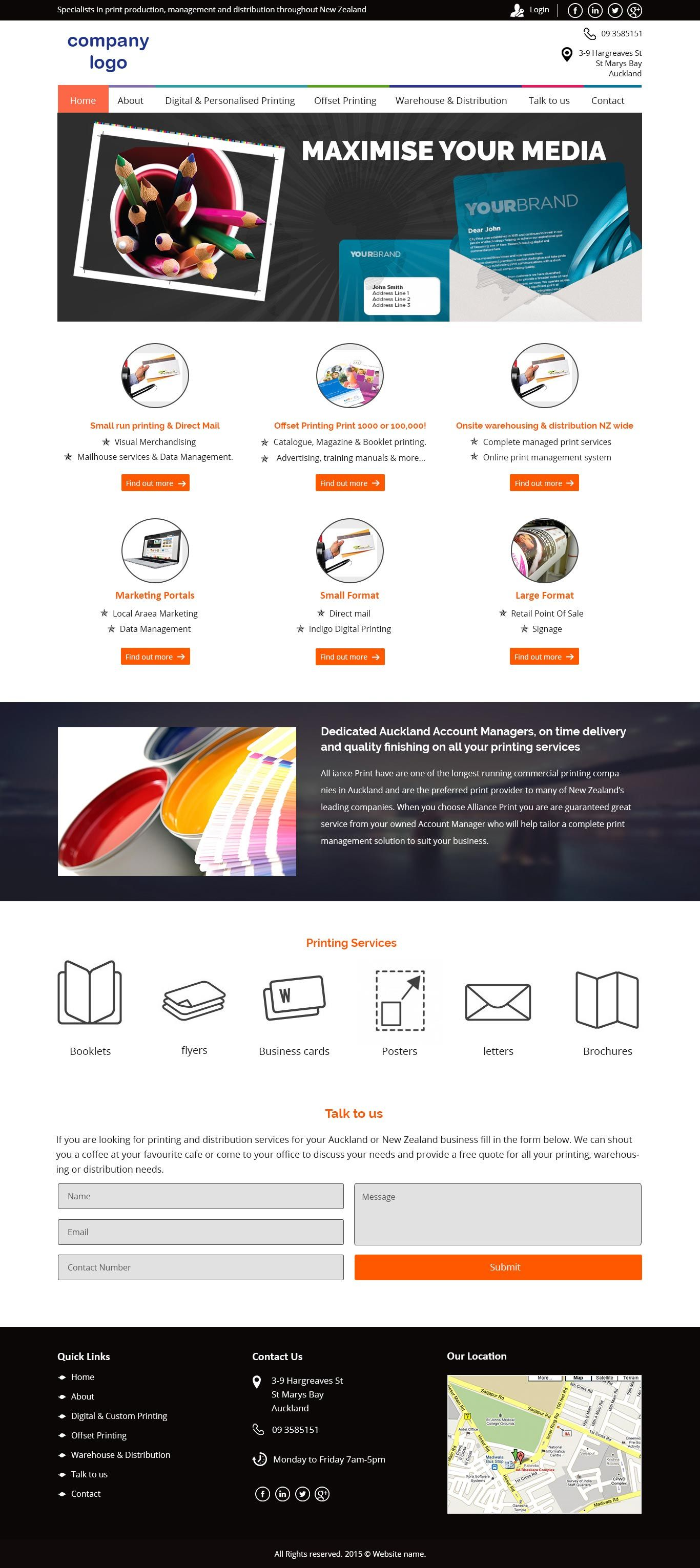 Ved web services website design pinterest website brochures website template can be used for any company website dealing in printing and media solutions like banner flyers business cards brochure design etc colourmoves