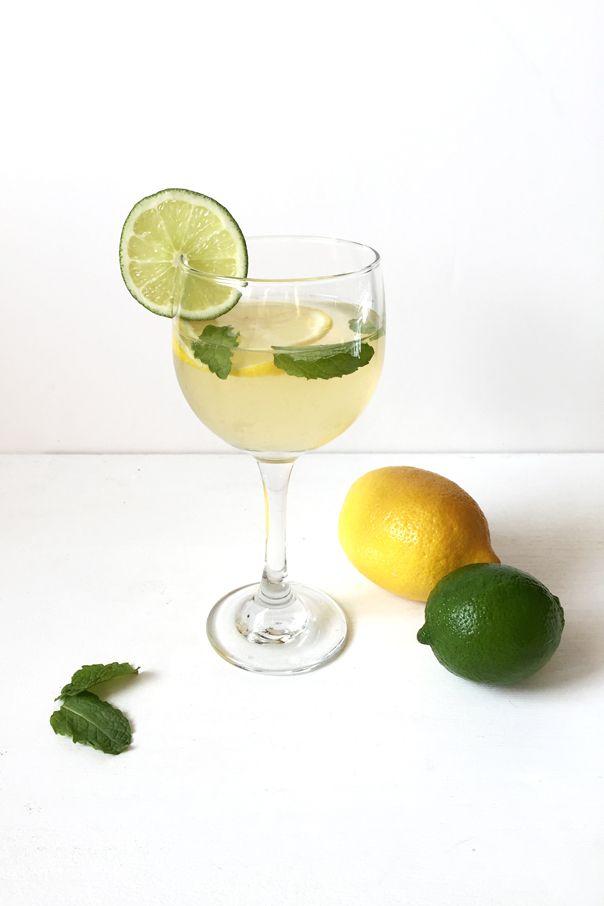 Lemon-Lime + Mint White Wine Sangria