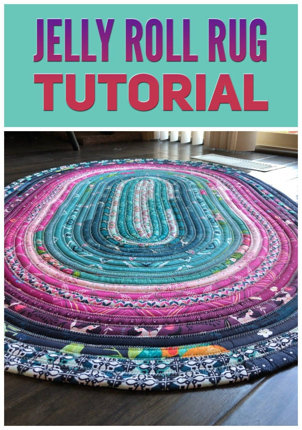 Jelly Roll Rug (with Video Tutorial | All Sew- Kitchen Kreations ...