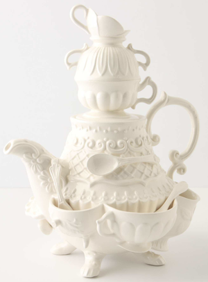 Stanhope Teapot from Anthropologie – perfect for a Mad Hatter's Tea Party.