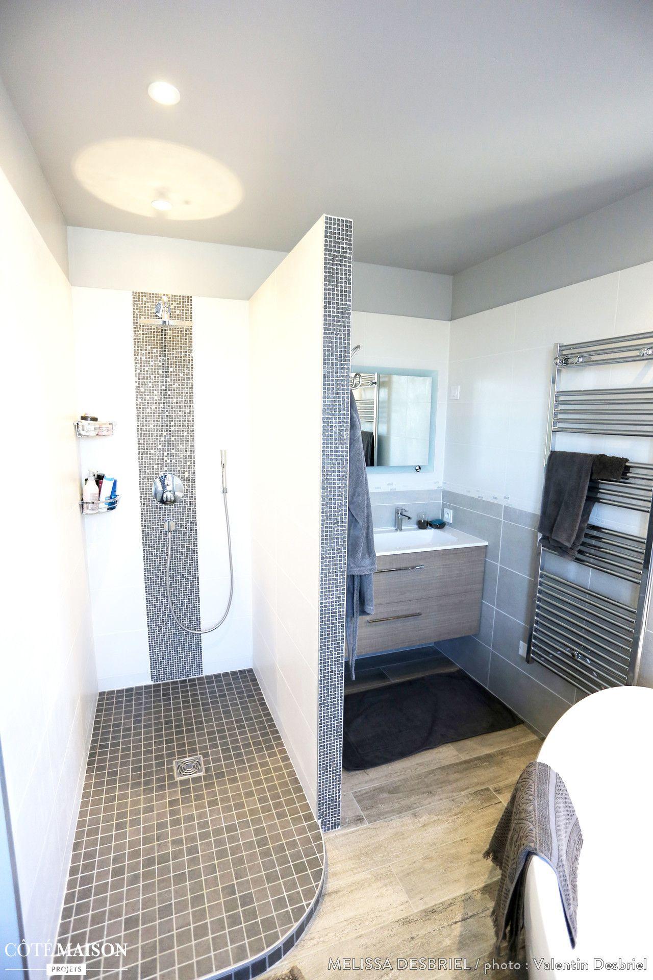 nice Salle De Bain Cote Maison #1: Rénovation de salle de bains, Saint-Illiers-le-Bois, Mélissa Desbriel
