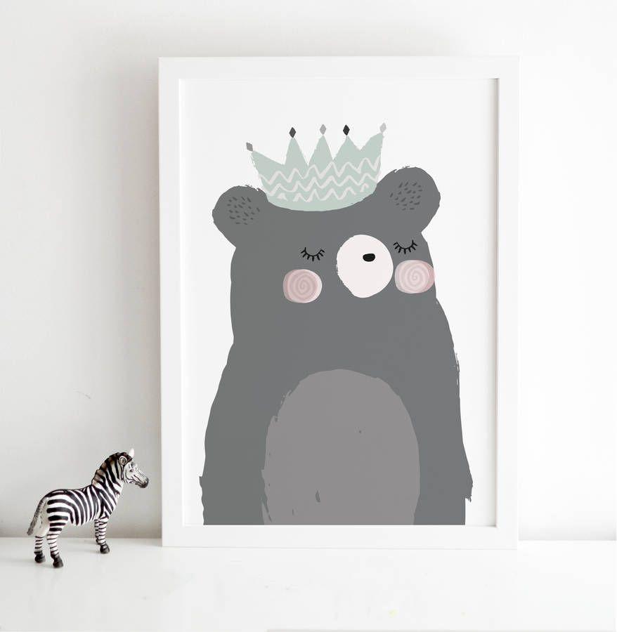 King Bear Scandinavian Children's Print