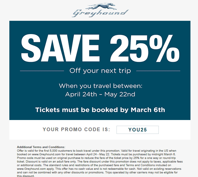 Pinned March 3rd 25 Off Greyhound Bus Lines Via Promo Code You25 Thecouponsapp Traveling By Yourself Shopping Coupons Greyhound Bus