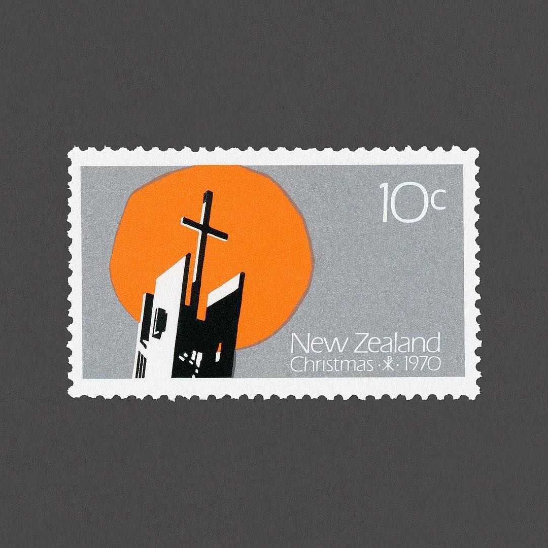 Christmas. New Zealand, 1970. Design Mark Cleverley + Don