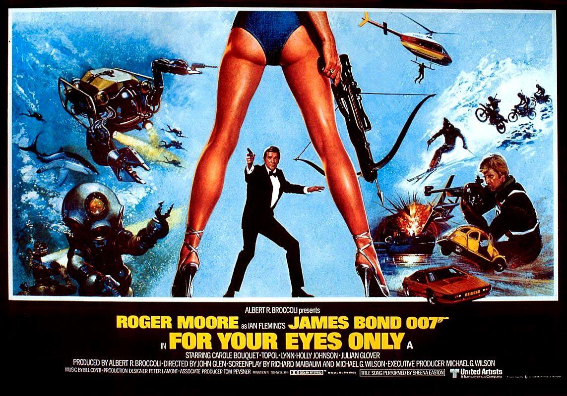 Poster For For Your Eyes Only 1981 Filmes James Bond Cartaz
