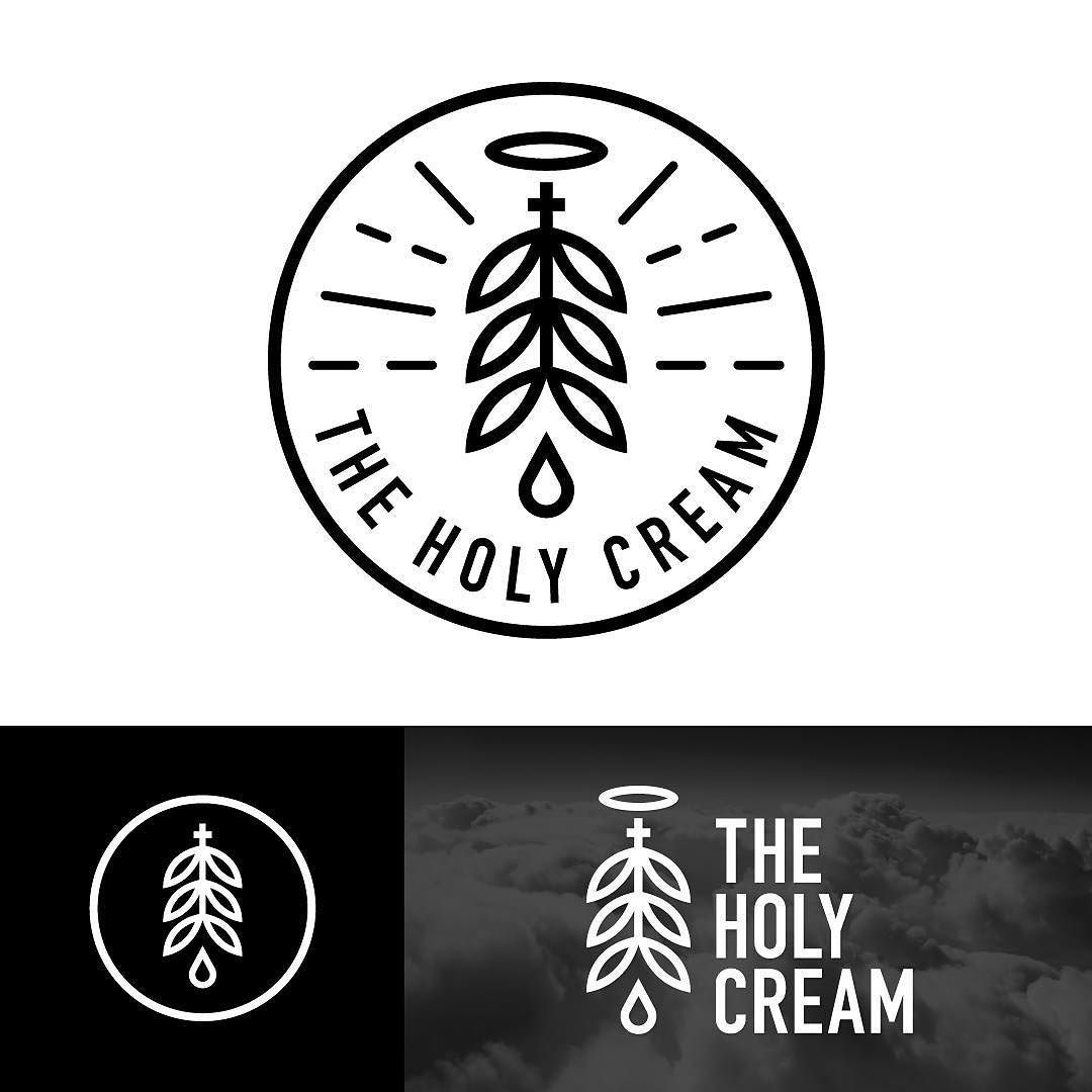 Logo Design For The Holy Cream Thc Infused Graphicdesign