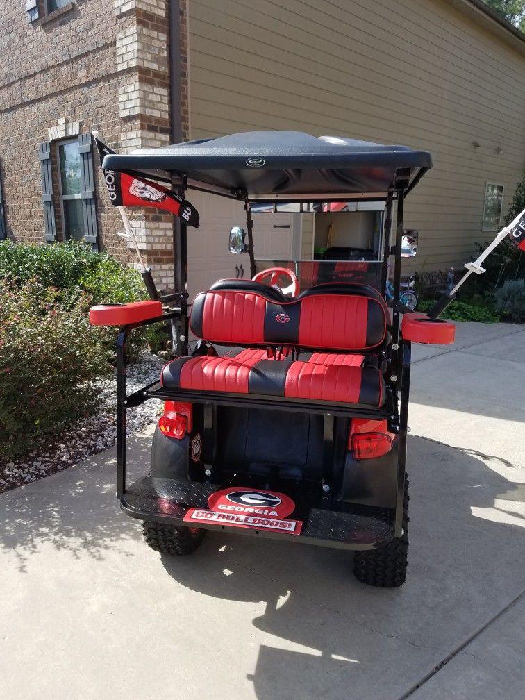 Pin By Vinson Washington On Georgia Bulldogs Golf Cart