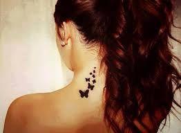Image result for tatuajes detras de la oreja para mujer