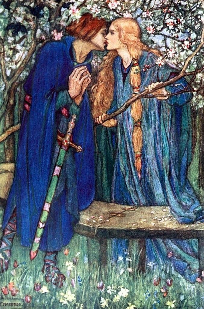 Illustrated by Florence Harrison  Early poems of William Morris, 1914