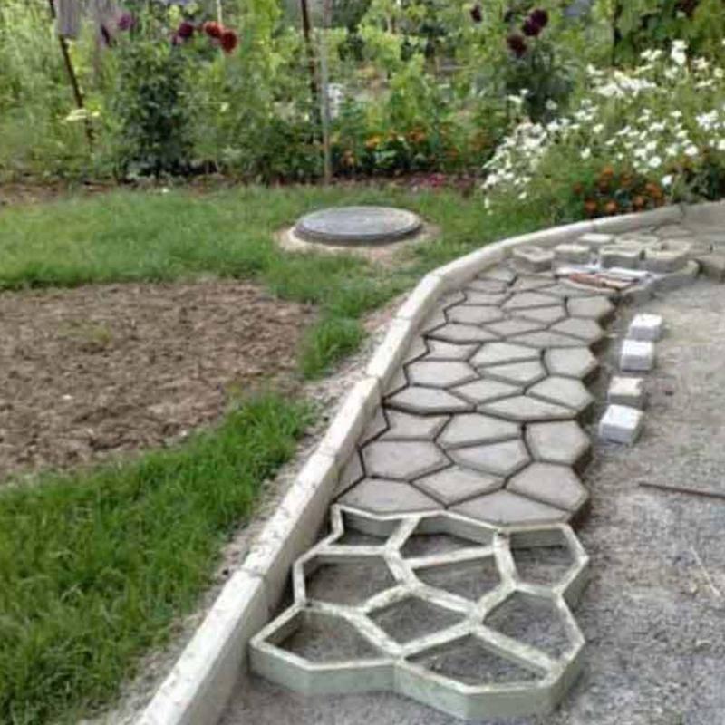 diy plastic concrete path maker