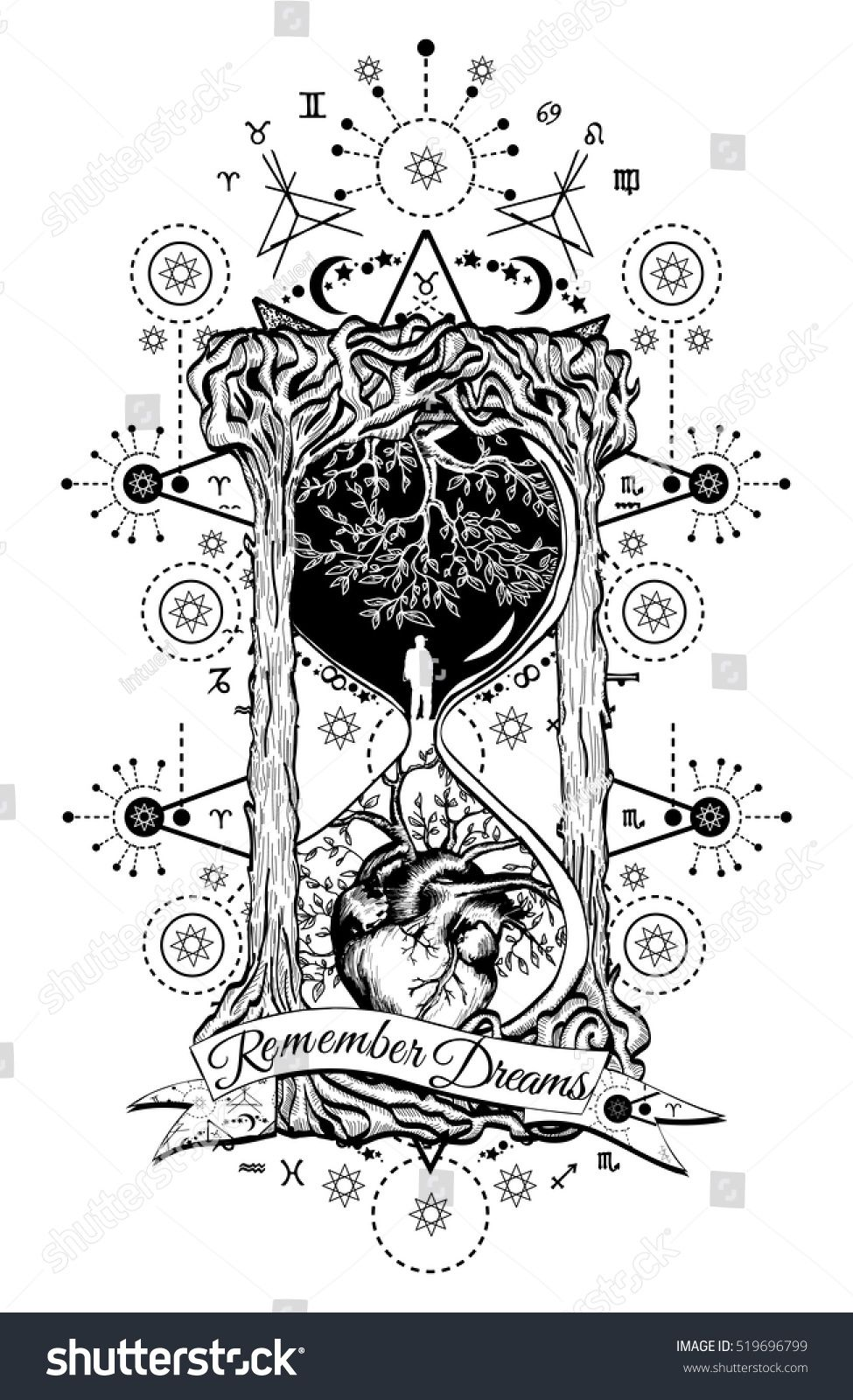 Pin by amber harness on tattoos for me pinterest mystical tree and heart in hourglass symbol of life and death mystical tattoo man in hourglass tattoo biocorpaavc Images