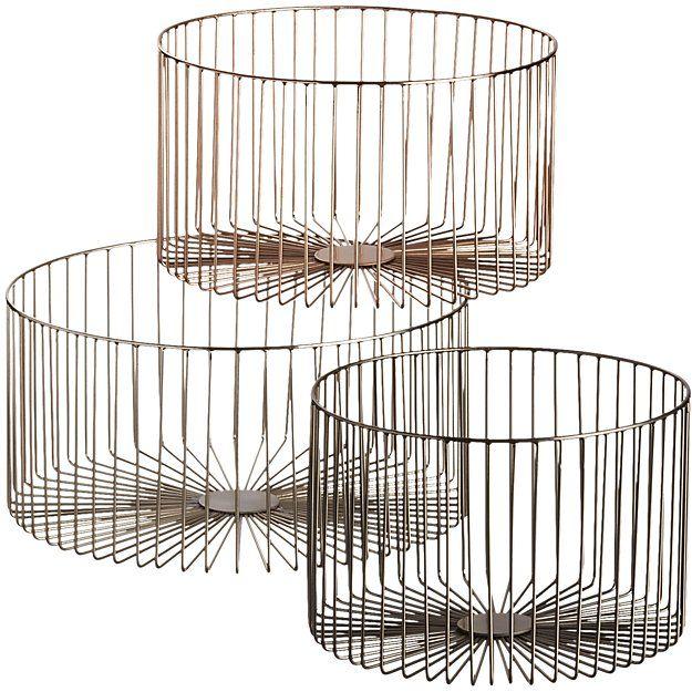 beam baskets | CB2 | Lust List | Pinterest | Beams, Beautiful ...