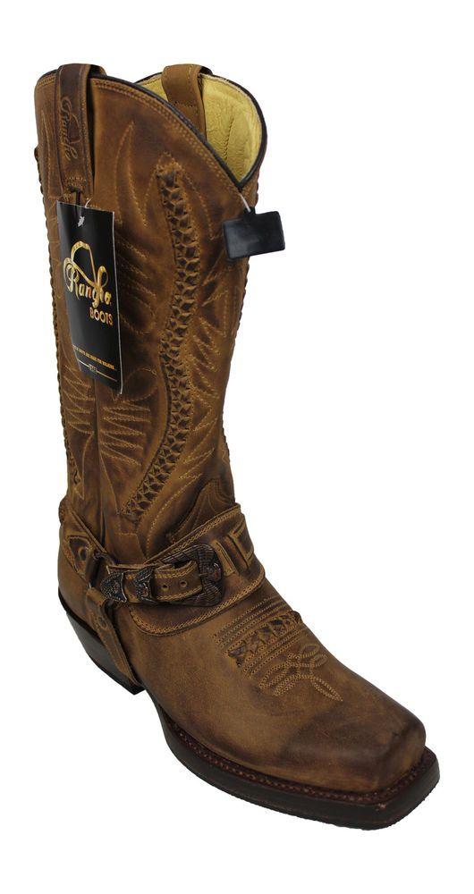 Rancho 9064 marrón botas de vaquero vaquero Boots Biker BOTAS MOTOCICLETA  BOTAS  d9b4386c8a3
