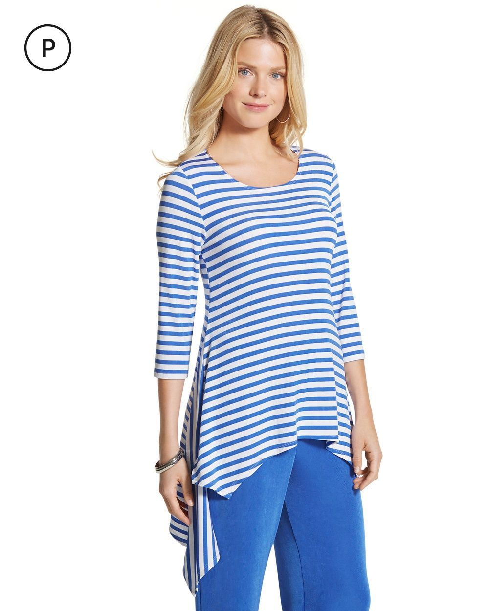 83473403b2 Shop Travel Clothes for Women - Travelers. Chico s Women s Petite Travelers  Classic Blue-Striped Top