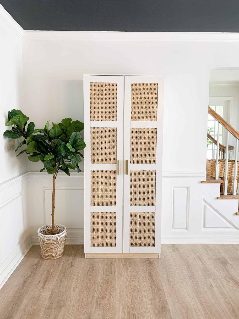 DIY Cane IKEA Brimnes Cabinet - arinsolangeathome
