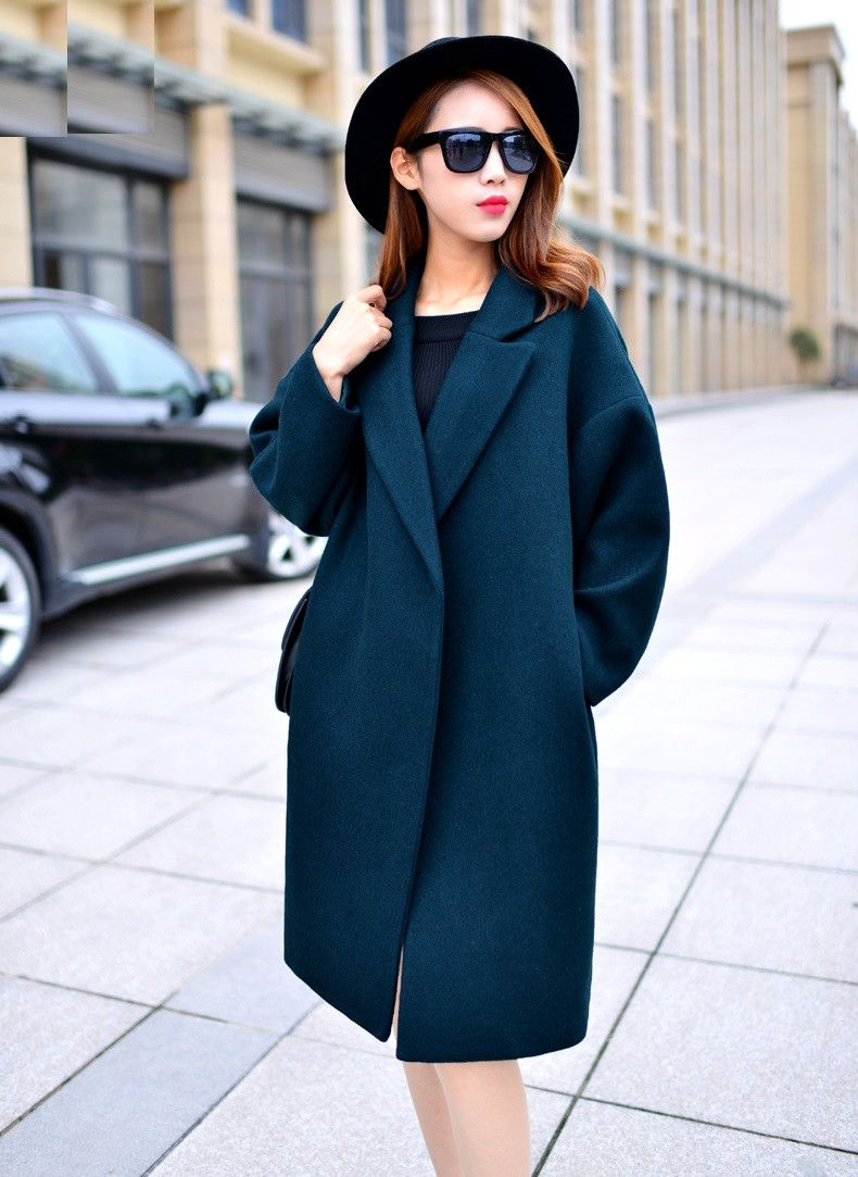 Nice Oversized Wool Coat With Quilting Winter Warm Trench coats ...