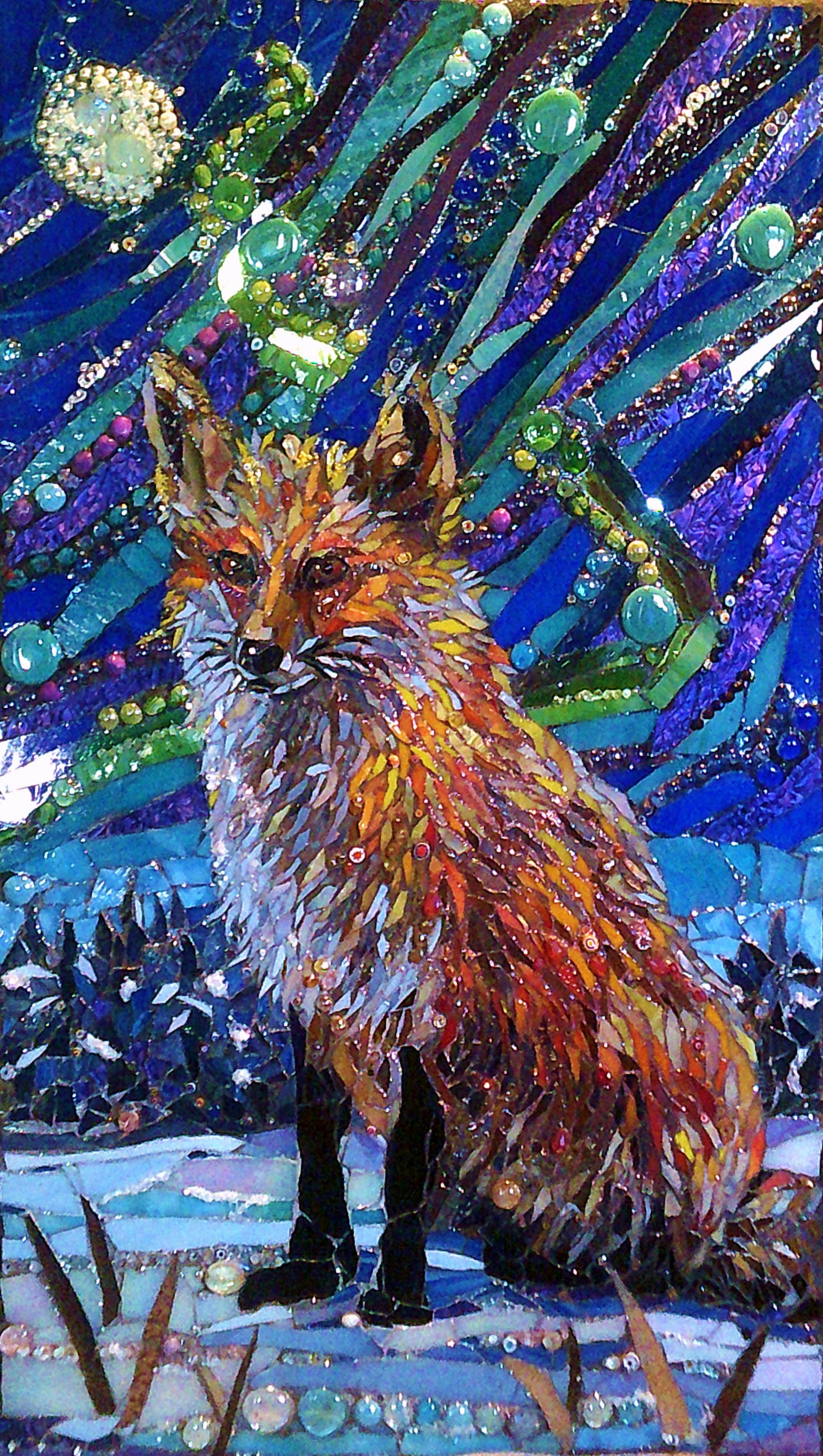 Mosaic By Grandmother Moon Mosaics Fox And The Aurora