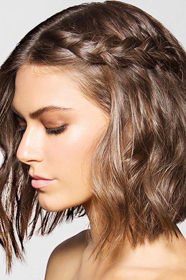 Gorgeous Hair Ideas For Holiday Party Season Short Hair Styles Braids For Short Hair Mid Length Hair