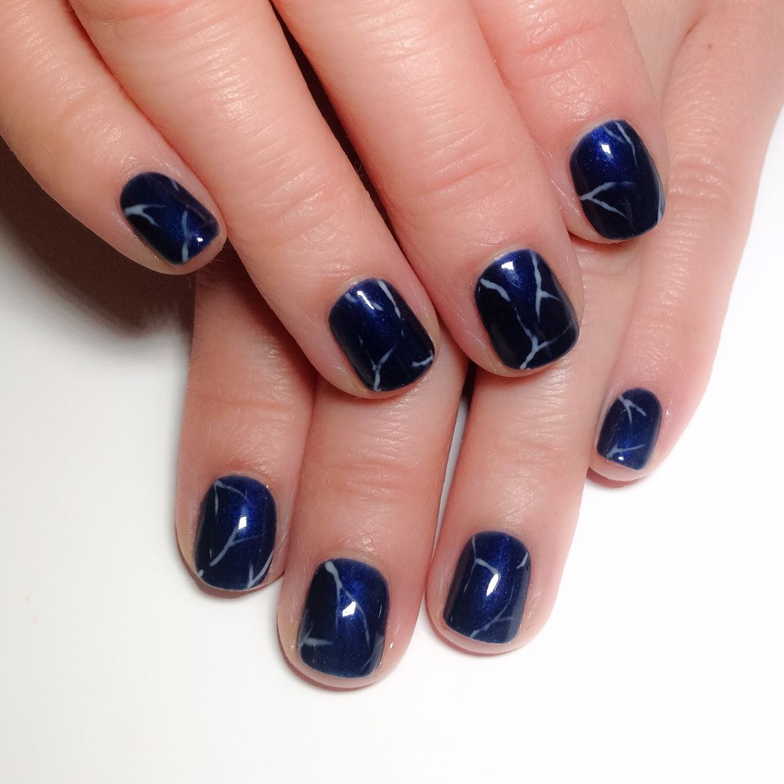 Midnight blue marble nails by me using bio sculpture gel the midnight blue marble nails by me using bio sculpture gel the pursuit of beauty prinsesfo Images