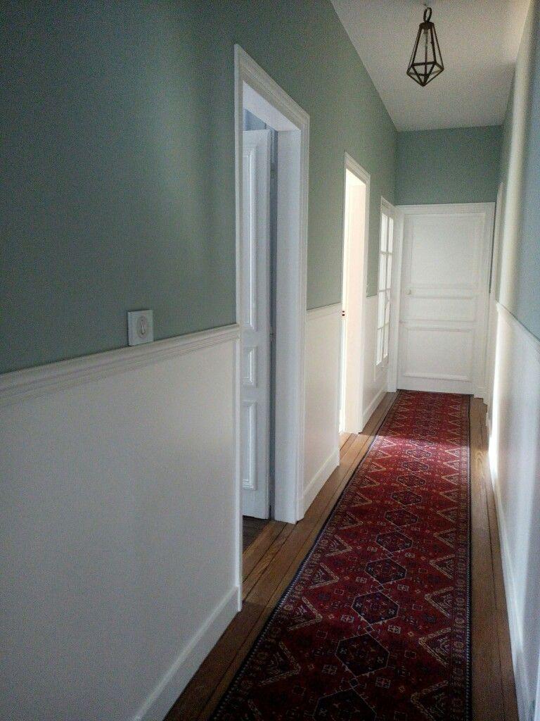 Soubassement Couloir En Bois peinture couloir mi-hauteur | déco entrée maison, idée déco