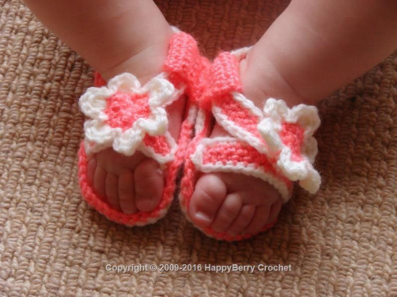 Crochet Baby Sandals | patterns I like | Pinterest | Bebé