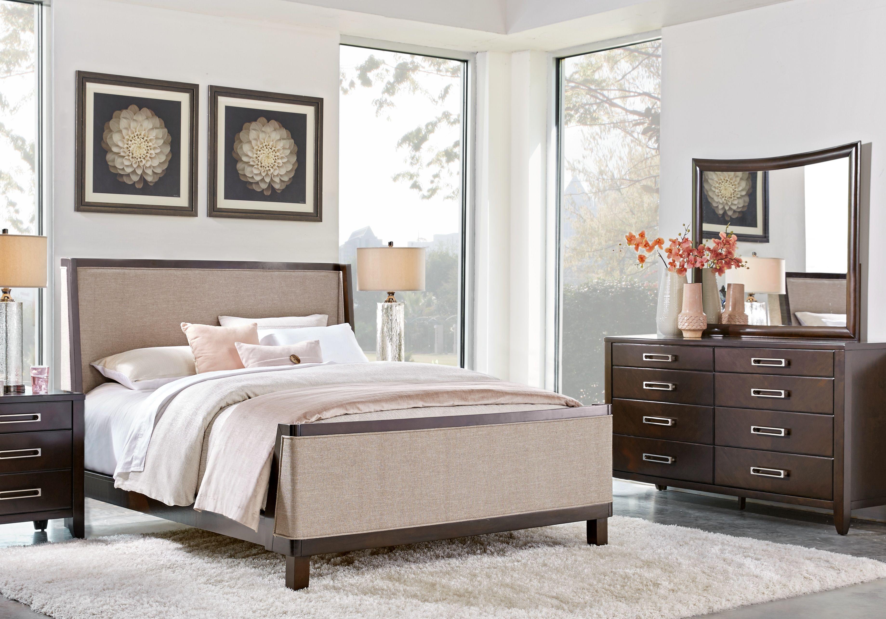 Classic Brown 3 Piece Queen Bedroom Set Country Roads Rc