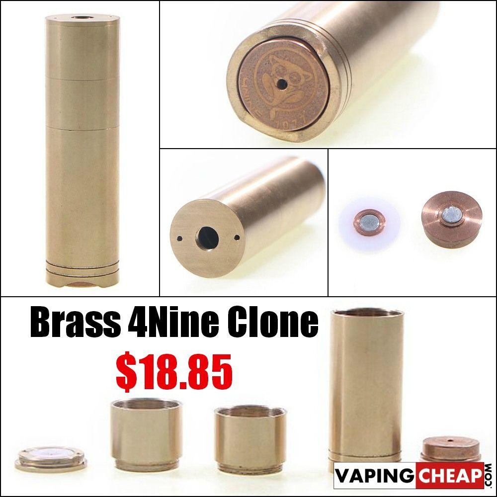 Brass 4Nine Clone E-Cigarette Mod - $18.85 CHINA - http://vapingcheap.com/brass-4nine-clone-e-cigarette-mod-18-85-china/