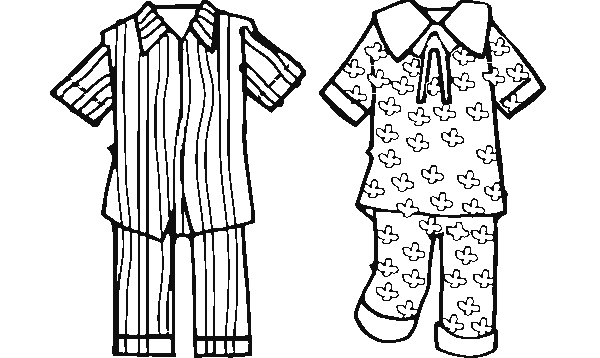 Coloring Page Pajamas Coloring Page Coloringcrew Com Pajama Day Pajama Party Kids Pajamas