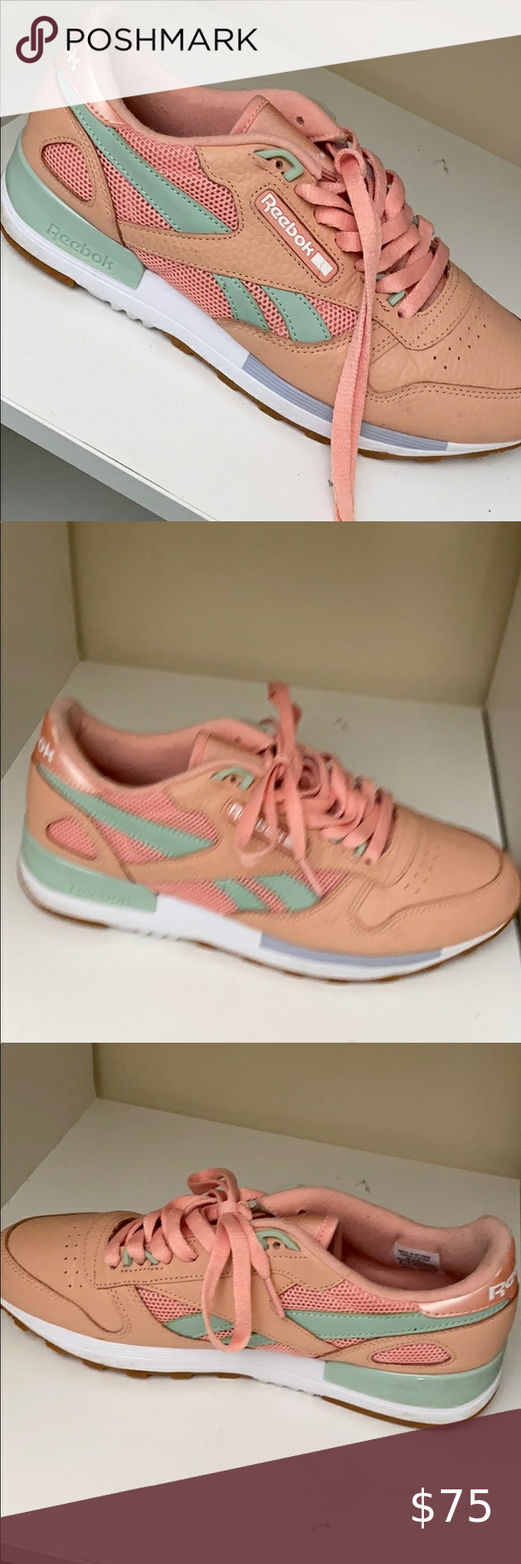 peach colored mens shoes