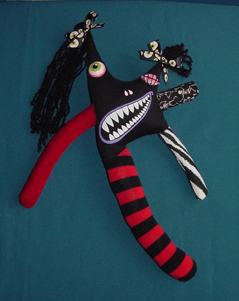 Jolene Monster Doll One Of A Kind Handsewn by CREEPYSTUFF on Etsy, $42.00
