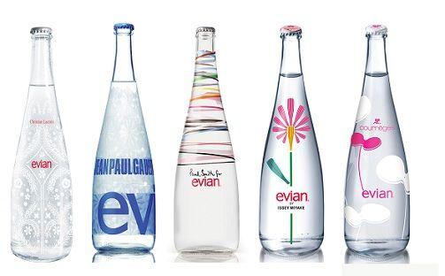 103ce750c4 Evian Special Edition Bottles | drinks | Water bottle design, Glass ...