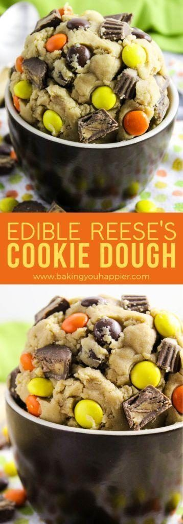 Edible Reese's Cookie Dough | Baking You Happier