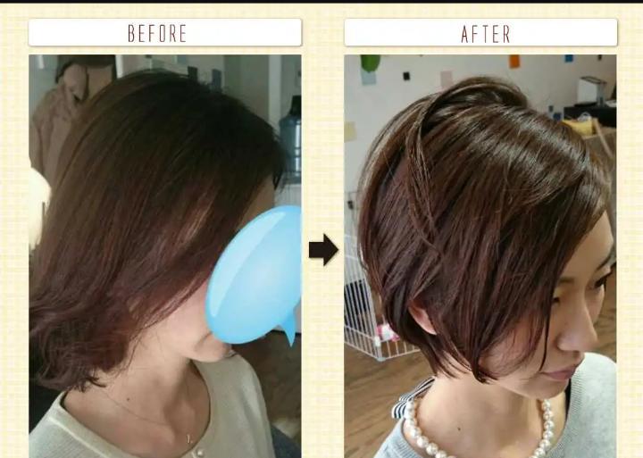大人女性の髪型ビフォー アフター写真 2020年美容院max戸来 女性