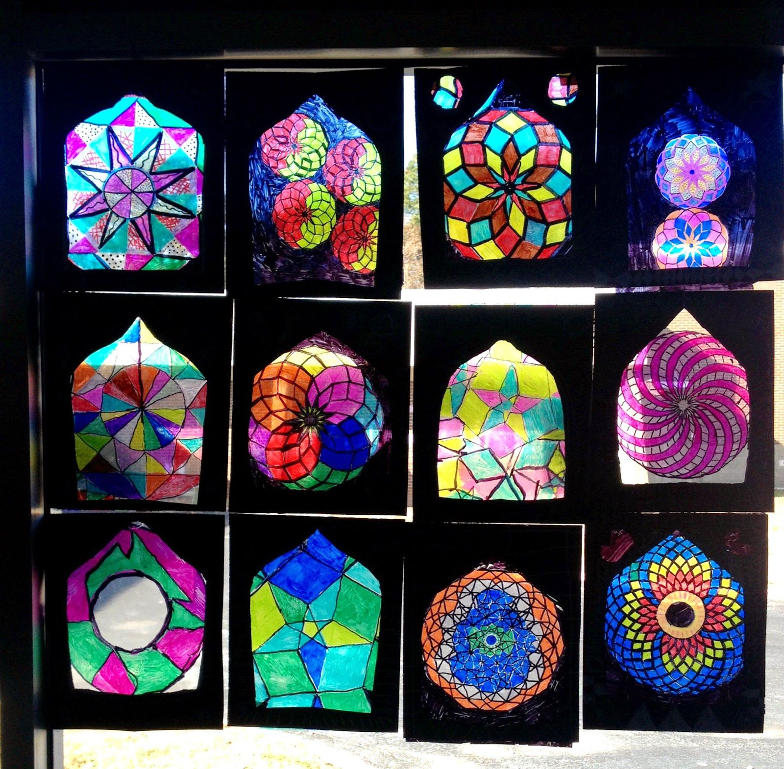 Lesson Plan Islamic Stained Glass Windows Artful Artsy