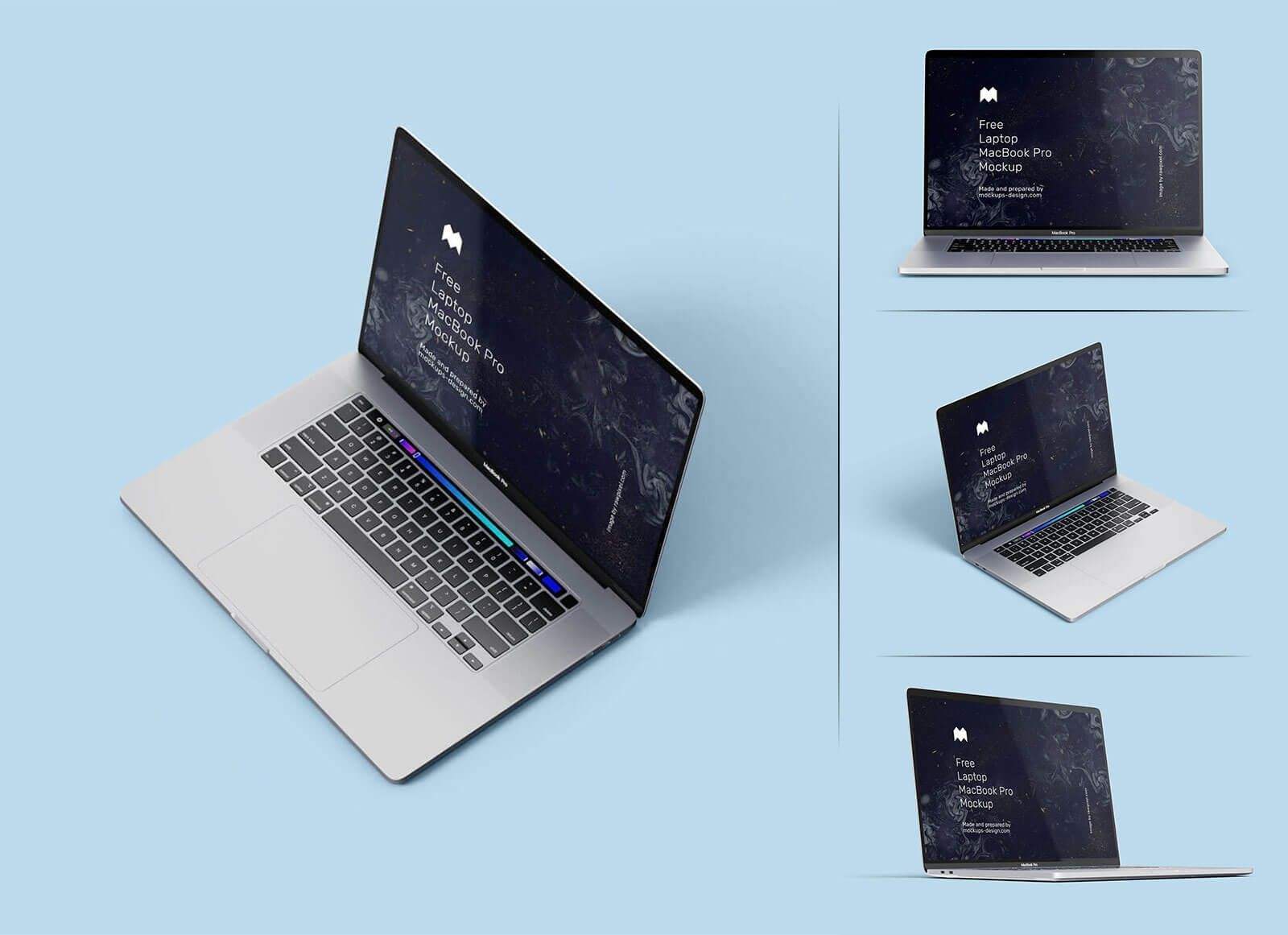 Free Apple Laptop MacBook Pro Mockup PSD Set - Good Mockups