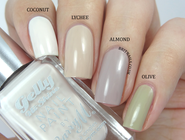 Barry m silk collection swatches and review   brit nails.