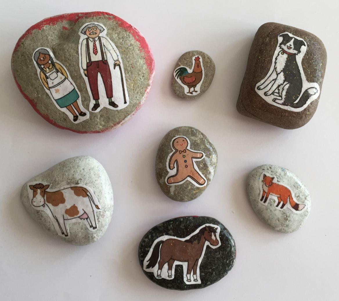 How to make The Gingerbread Man story stones Gingerbread