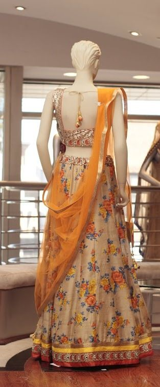 Embroidery: Sequence Blouse with Heavy borders Fabric: Chanderi Silk  For more information please contact sales@sahil.com