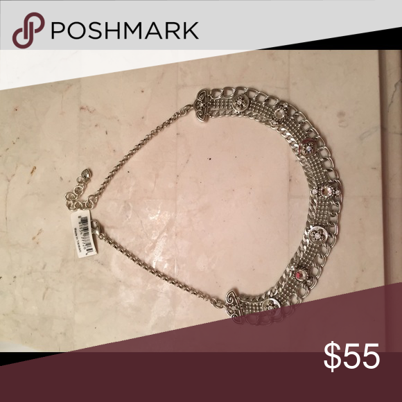 Brighton Blingy Choker Brighton Blingy Necklace can be worn Choker Style or dropped down a little to show off the bling! Super cute! New with tags! Matching bracelet listed separately. Brighton Jewelry Necklaces