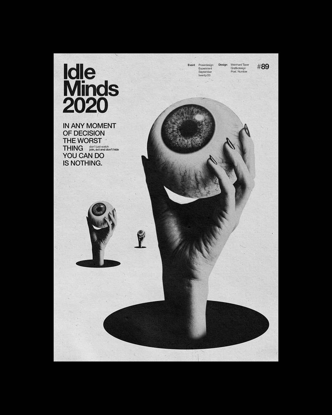 """Meindl Taxer's Instagram post: """"089 . . #typosters #printisntdead #graphicindex #dailyposter #itsnicethat #posterlabs #d…   Instagram posts, Graphic prints, Graphic"""