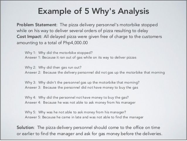 What Is Bothering You Try This example 5 why root cause analysis form  Google Search