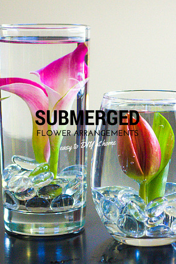 DIY submerged flower arrangements! Incredibly easy to do at home!